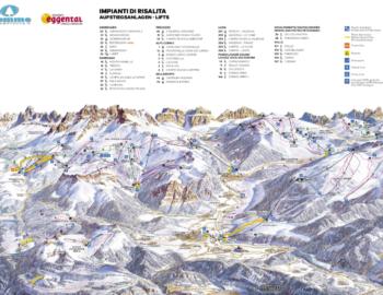ski mapa val di fiemme